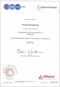 Midland-Damp-Doctor-apprenticeship certificate